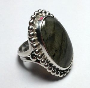 Smooth Stone Sterling Silver Ring