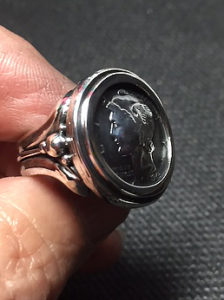 Liberty Dime Sterling Silver Ring