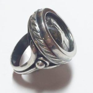 Liberty Dime Ring, Sterling Silver