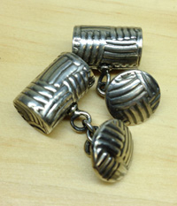Sterling Silver Patterned Cuff Links