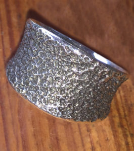 Sterling Silver Hammered Patina Pinky Ring