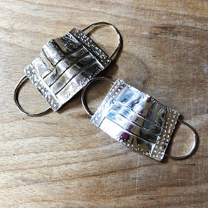 Covid Mask Sterling Earrings