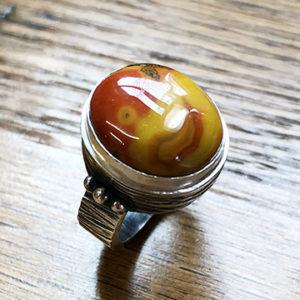 Orange Agate Ring