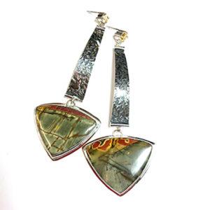 Jasper and Citrine Earrings