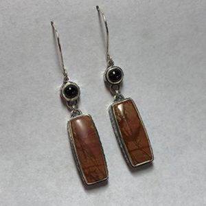 Jasper and Saphire Earrings