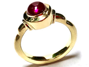 Ruby and 18k Gold Ring
