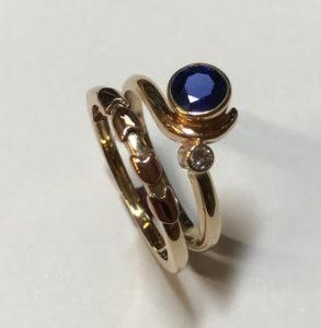 Anniversary Wedding Ring Set