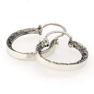 Silver Sawdust Earrings