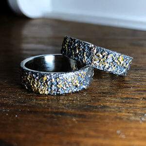 Silver and 24k Gold Rings