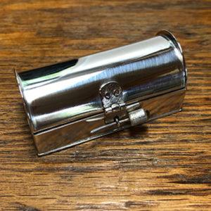 Small Silver Box with Citrine Clasp