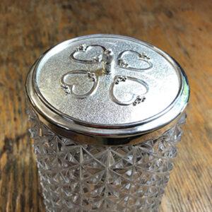 Custom Sterling Silver Jar Lid