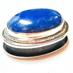 Sterling Silver Lapis Lazuli Hinged Box