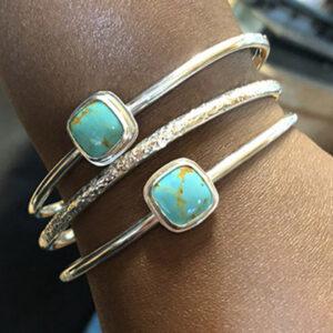 Custom Sterling and Turquoise Bracelet