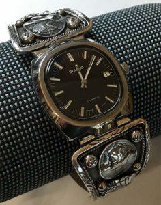 Watch Bracelet with Late-60's Bulova Automatic Watch