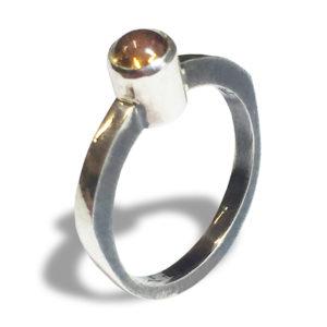 Cabochon Citrine Ring Retro-Style Shaped Ring
