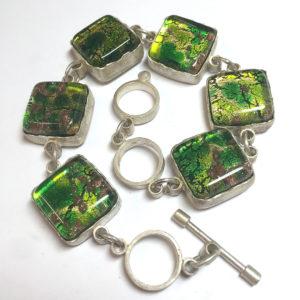 Murano Green Glass Bracelet