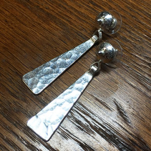 Sterling Silver Hammered Textured Earrings