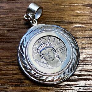 Custom 1oz Platinum Coin Pendant