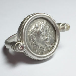 Ancient Coin Ring, Sterling Silver, Kingdom of Macedon, Phillip lll, 323-317 BC