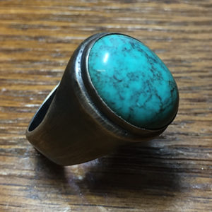 Turquoise Cabochon, Sterling Silver