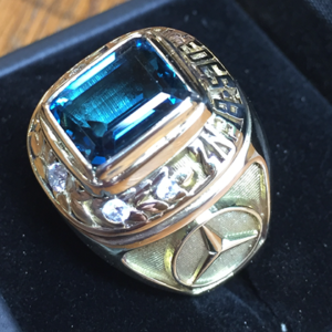 New Topaz Stone and Diamond in Mercedes Benz Ring